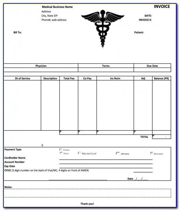 Free Medical Billing Invoice Template