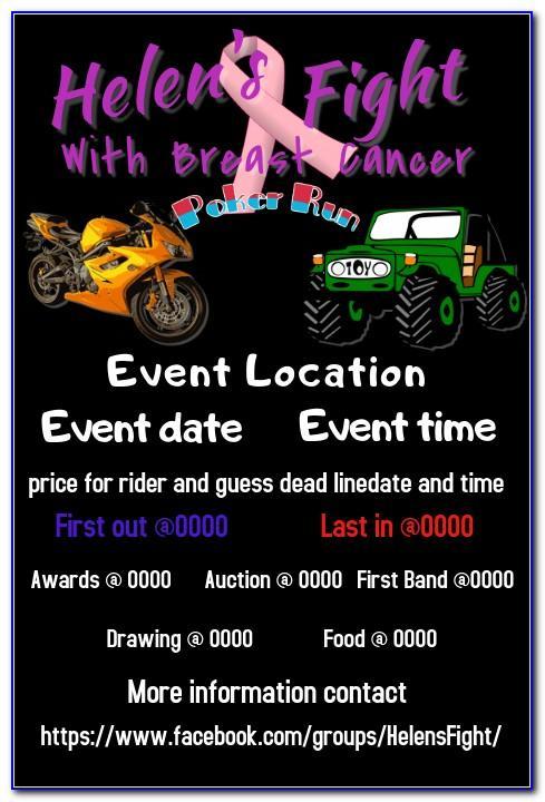 Free Motorcycle Poker Run Flyer Template