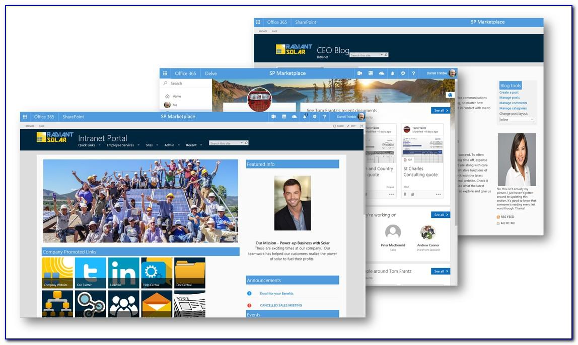 Free Office 365 Intranet Template
