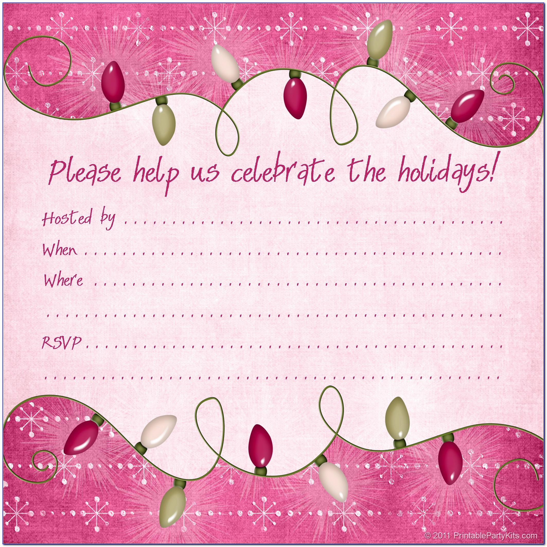 Free Online Christmas Party Invitation Maker
