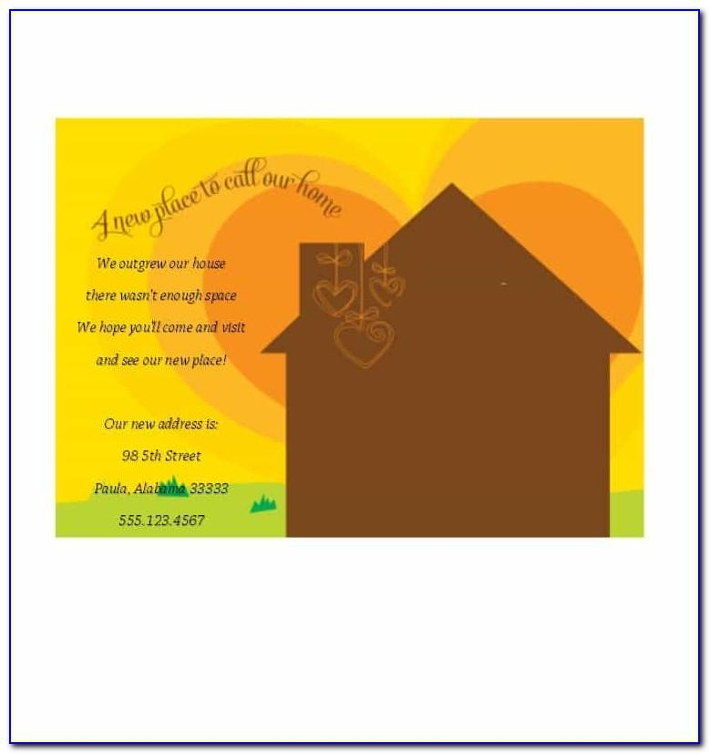 Free Online Housewarming Invitation Template