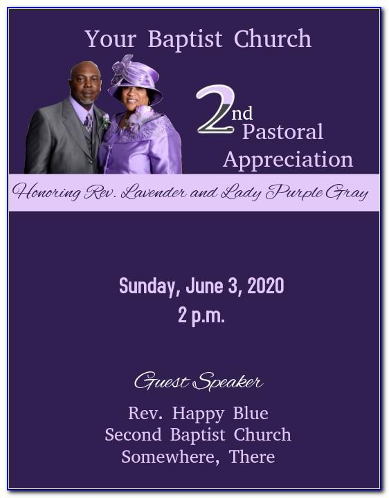 Free Pastor Anniversary Flyer Template