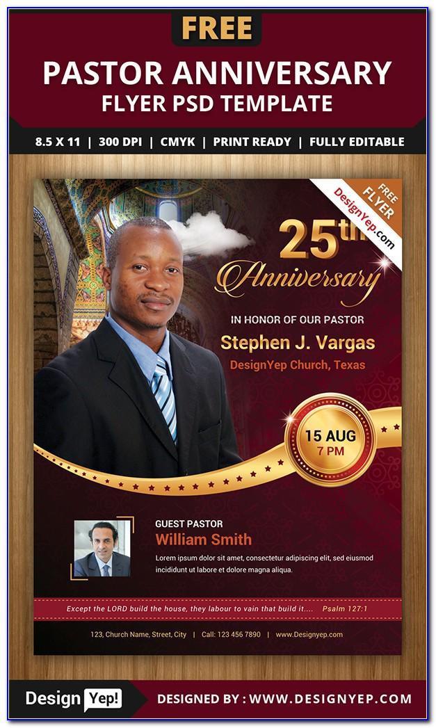 Free Pastor Appreciation Flyer Templates