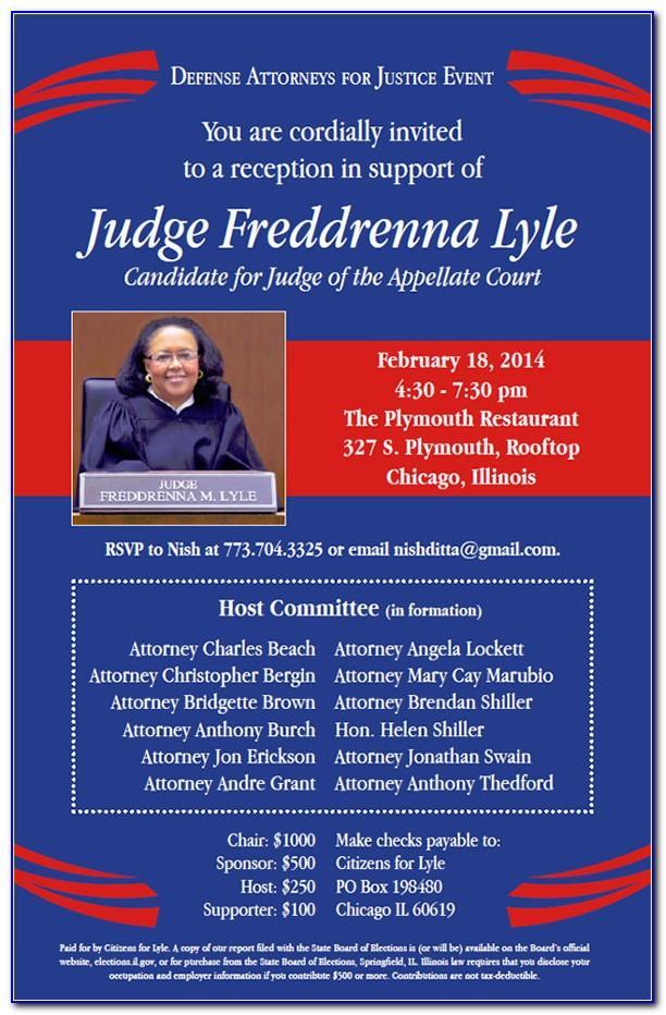 Free Political Fundraiser Invitation Template