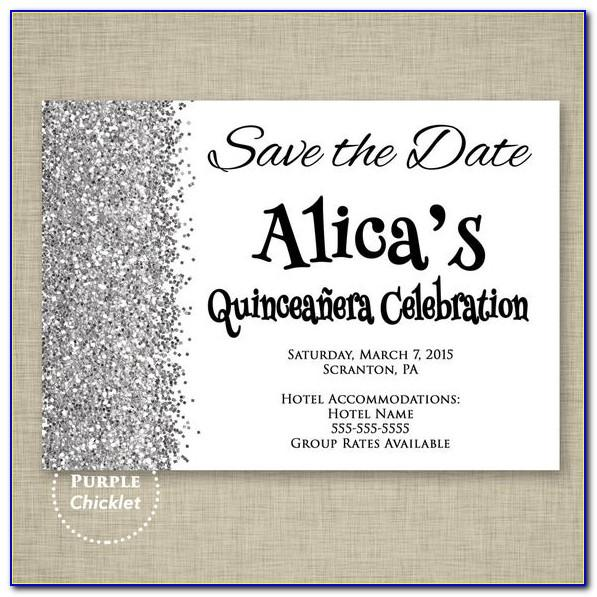 Free Quinceanera Save The Date Templates