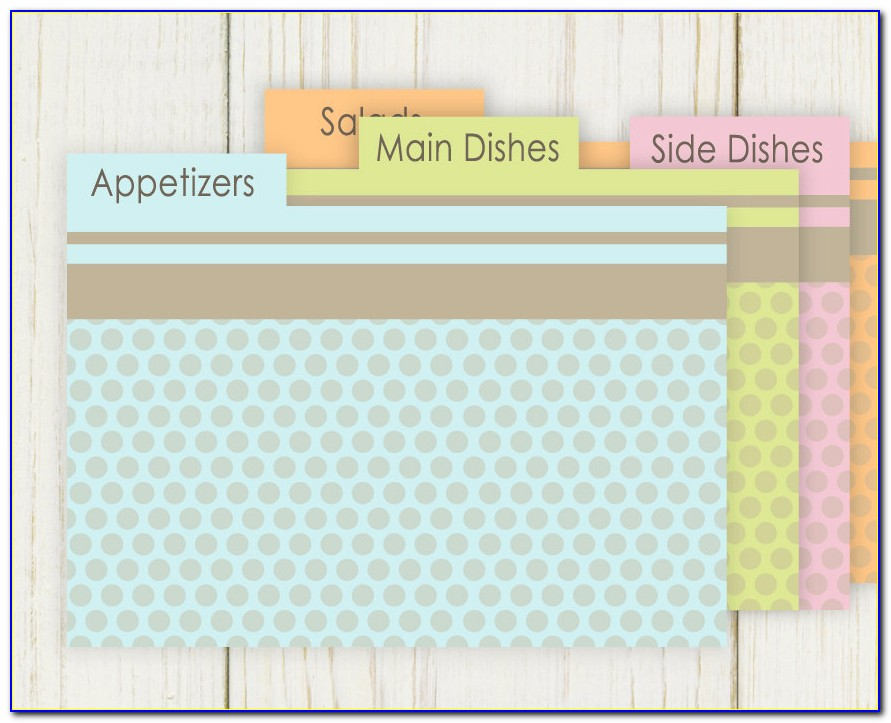 Free Recipe Card Divider Templates