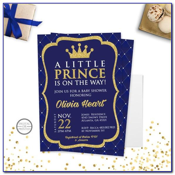 Free Royal Prince Baby Shower Invitation Template