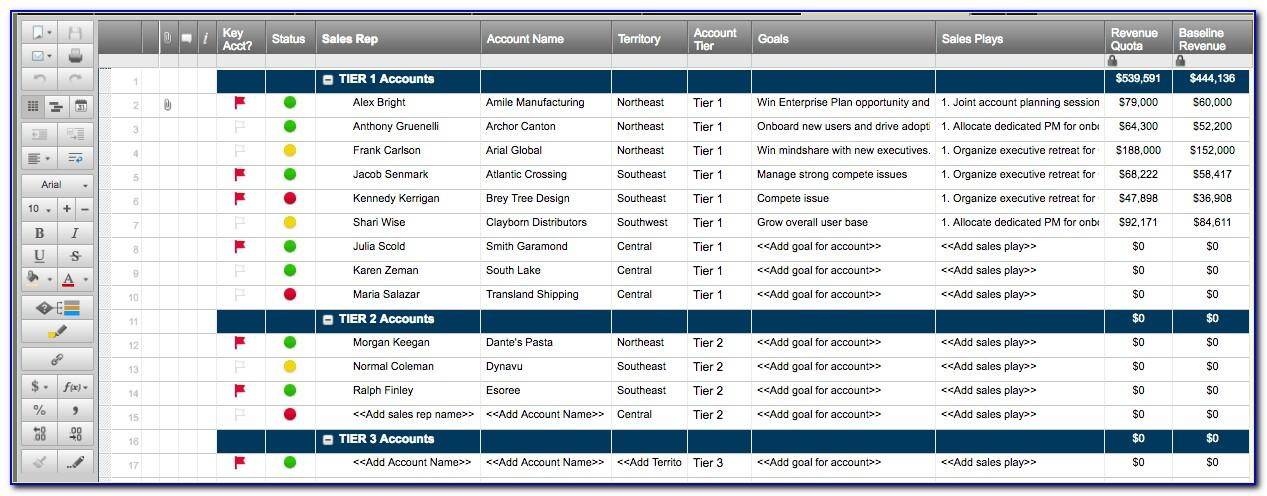 Free Sales Territory Plan Template Excel