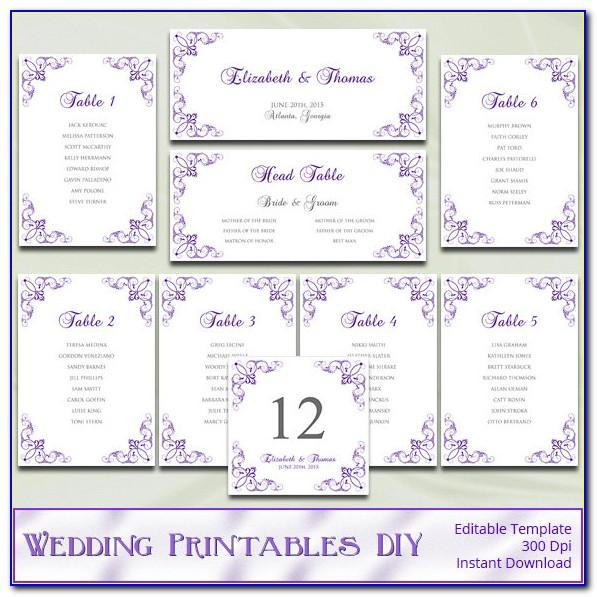 Free Seating Charts For Wedding Reception Templates