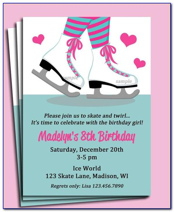Free Skate Invitation Templatefree Skate Invitation Template