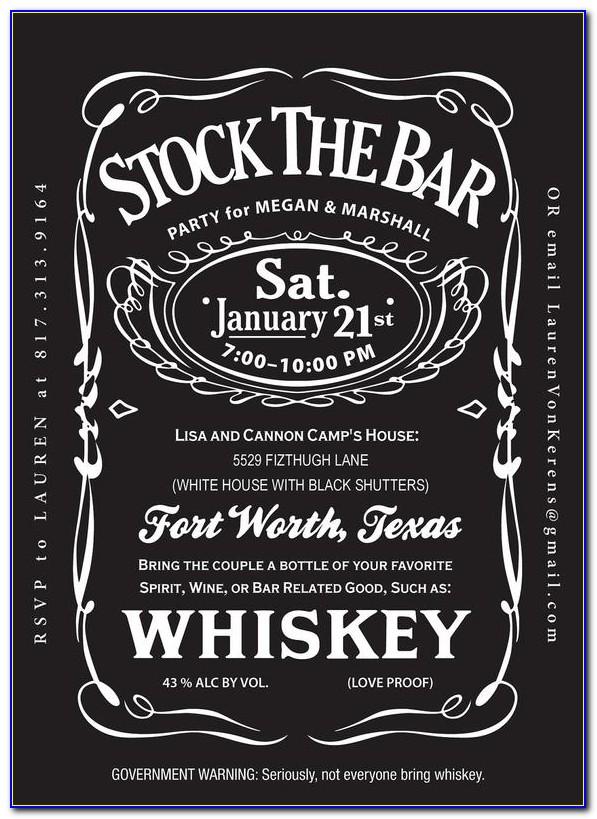 Free Stock The Bar Invitation Templates