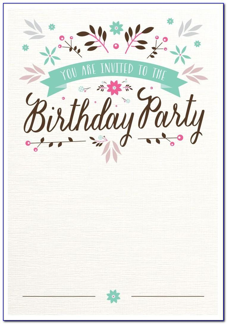 Free Surprise Birthday Invitation Templates Printable