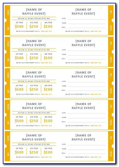 Free Template For Fundraiser Tickets