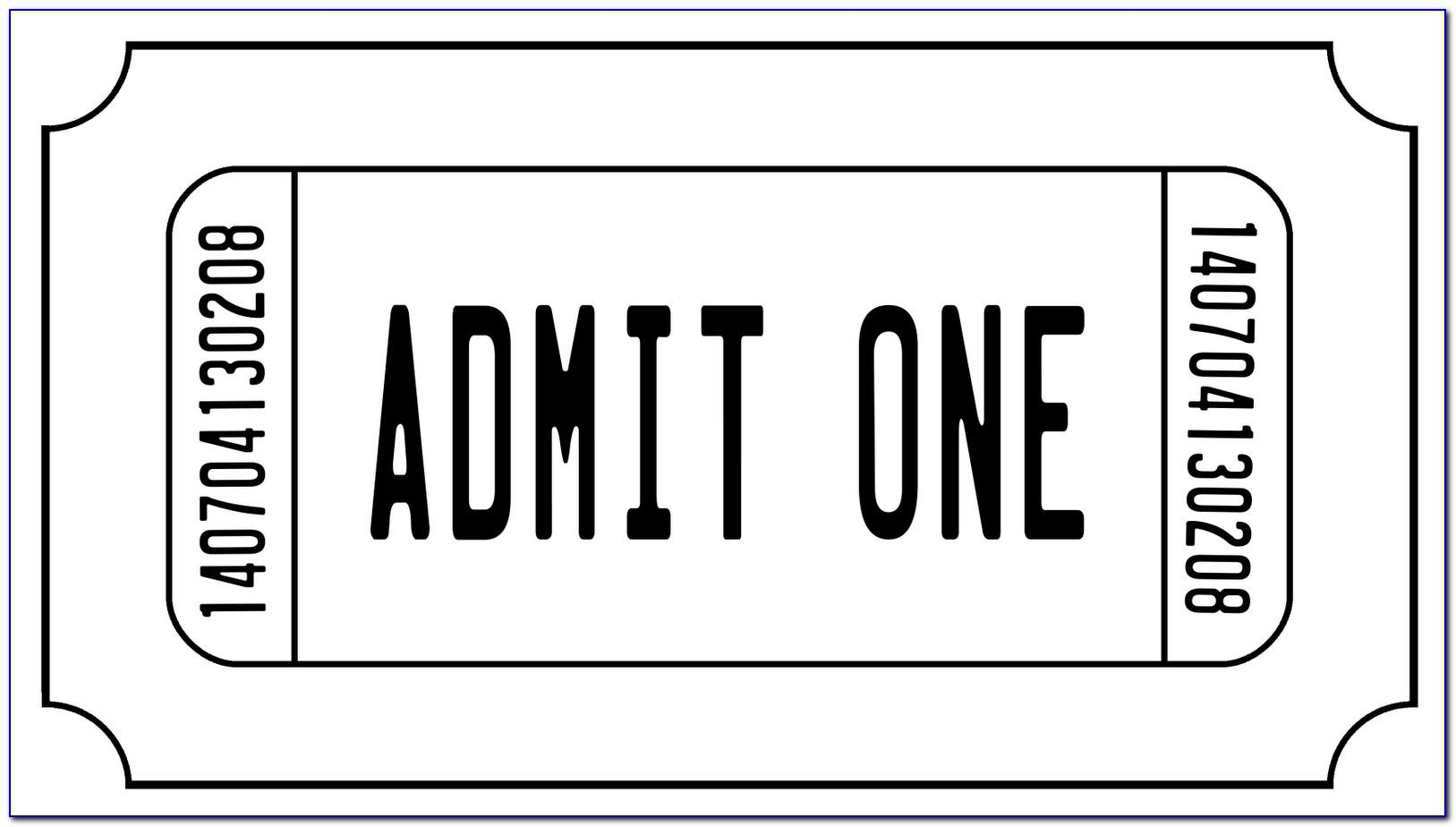 Free Template For Tickets To Events