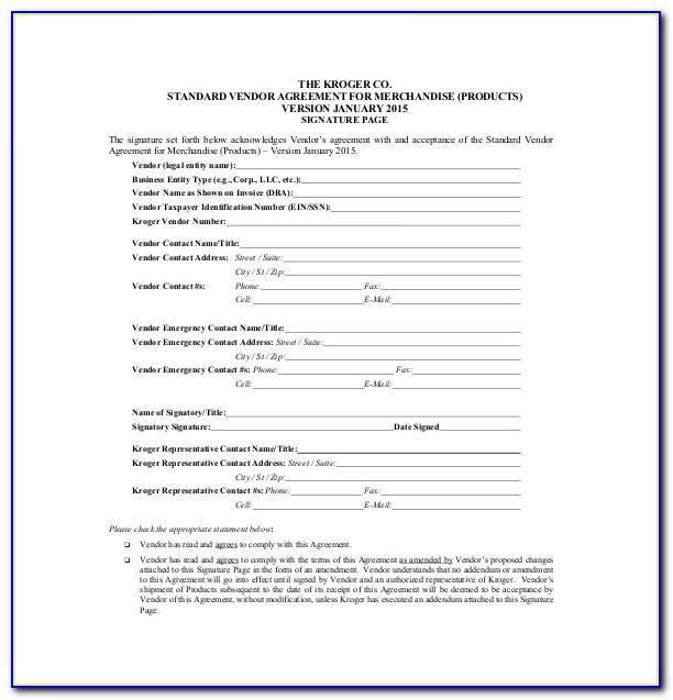 Free Vendor Finance Agreement Template