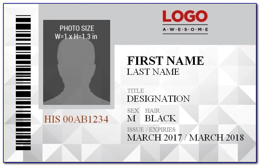 Free Vertical Name Badge Template