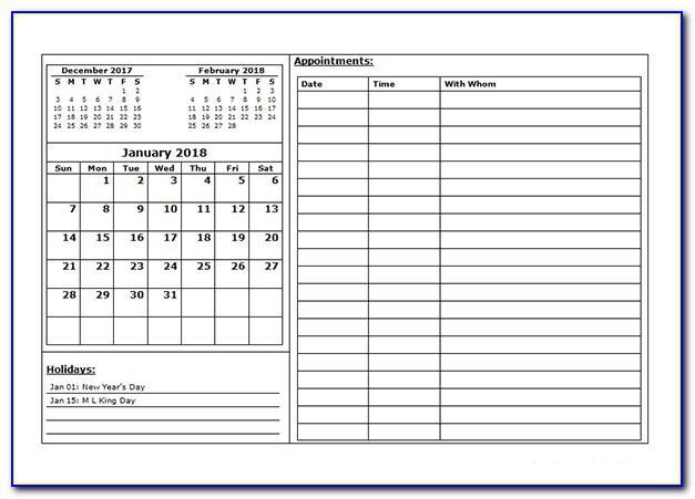 Free Weekly Calendar Template Word
