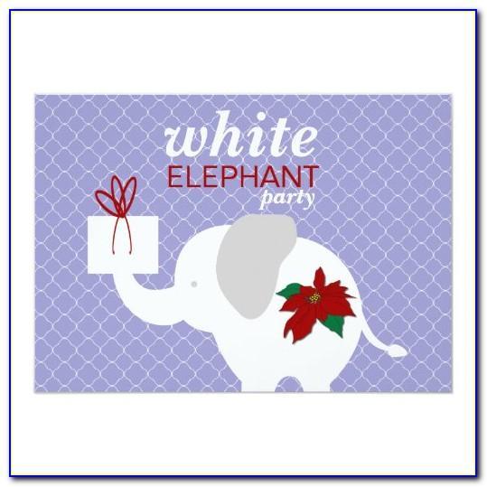Free White Elephant Invite Template