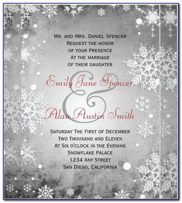 Free Winter Wonderland Wedding Invitation Templates
