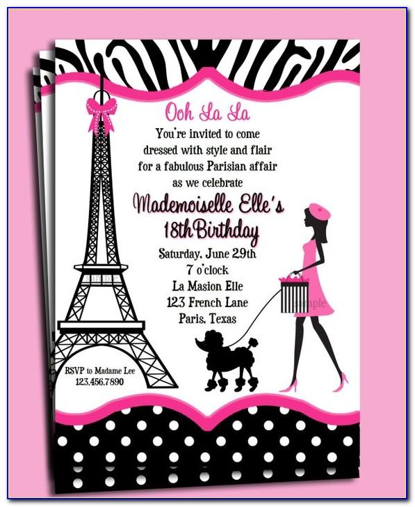 French Party Invitation Templates