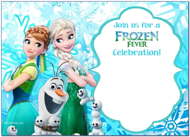 Frozen Birthday Party Invitation Maker