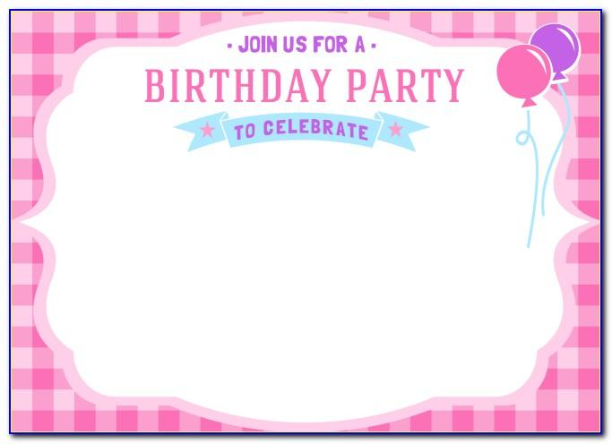 Girl Birthday Invitations Templates Free