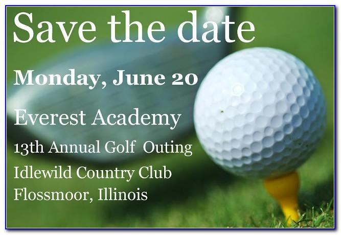 Golf Tournament Save The Date Template