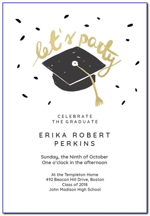 Graduation Invitation Template Word Free