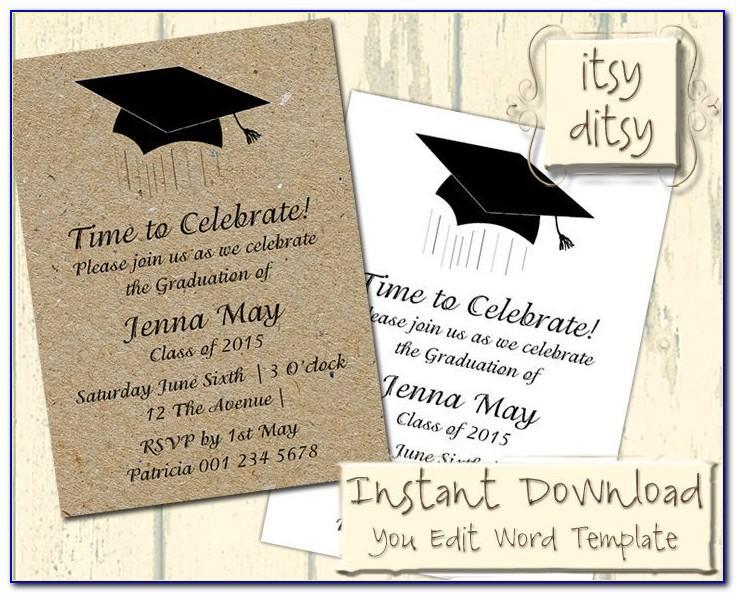 Graduation Invitation Wording Samples