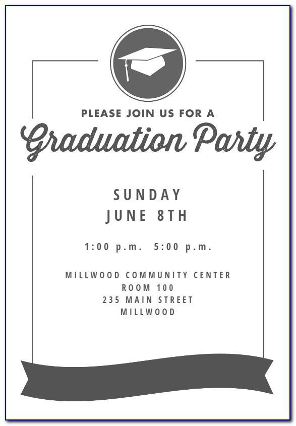 Graduation Party Invitation Samples Wordings