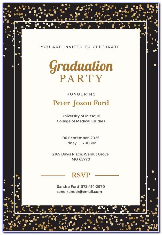 Graduation Party Invitation Template Word