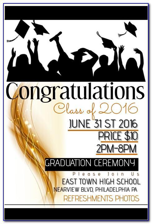 Graduation Poster Template Editable