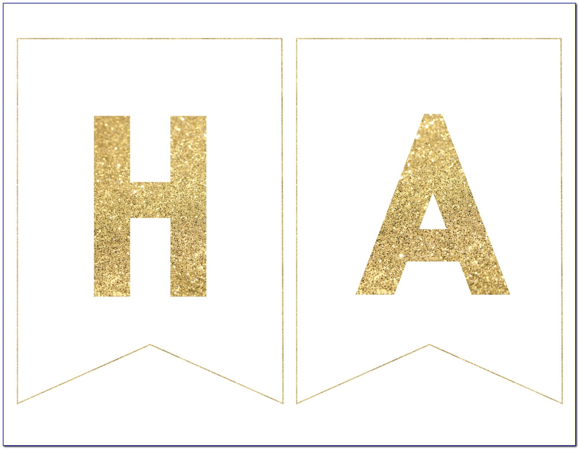 Happy Birthday Banner Letter Template
