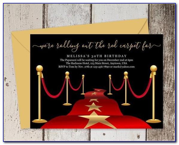 Hollywood Birthday Invitation Template Free
