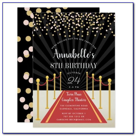 Hollywood Birthday Invitation Templates