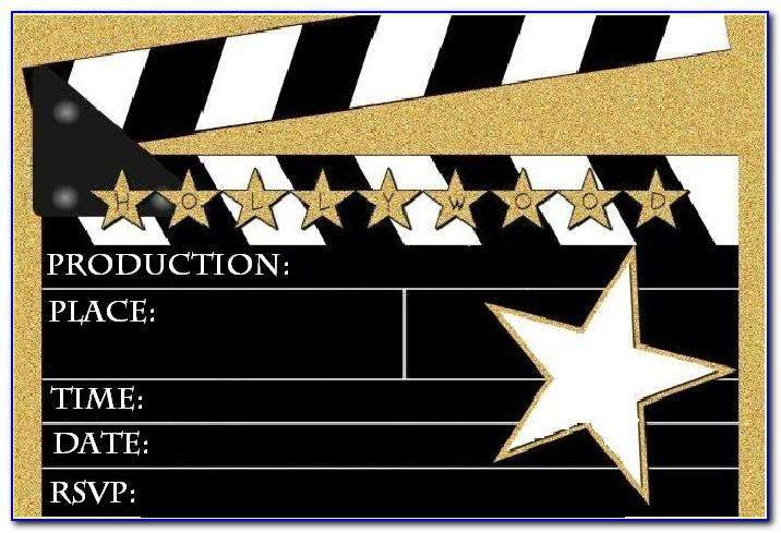 Hollywood Invitation Template Free