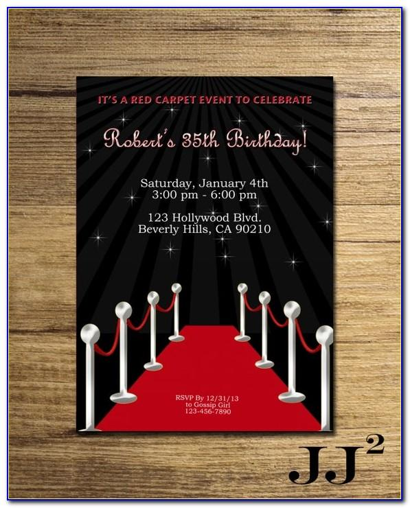 Hollywood Party Invitation Template Free