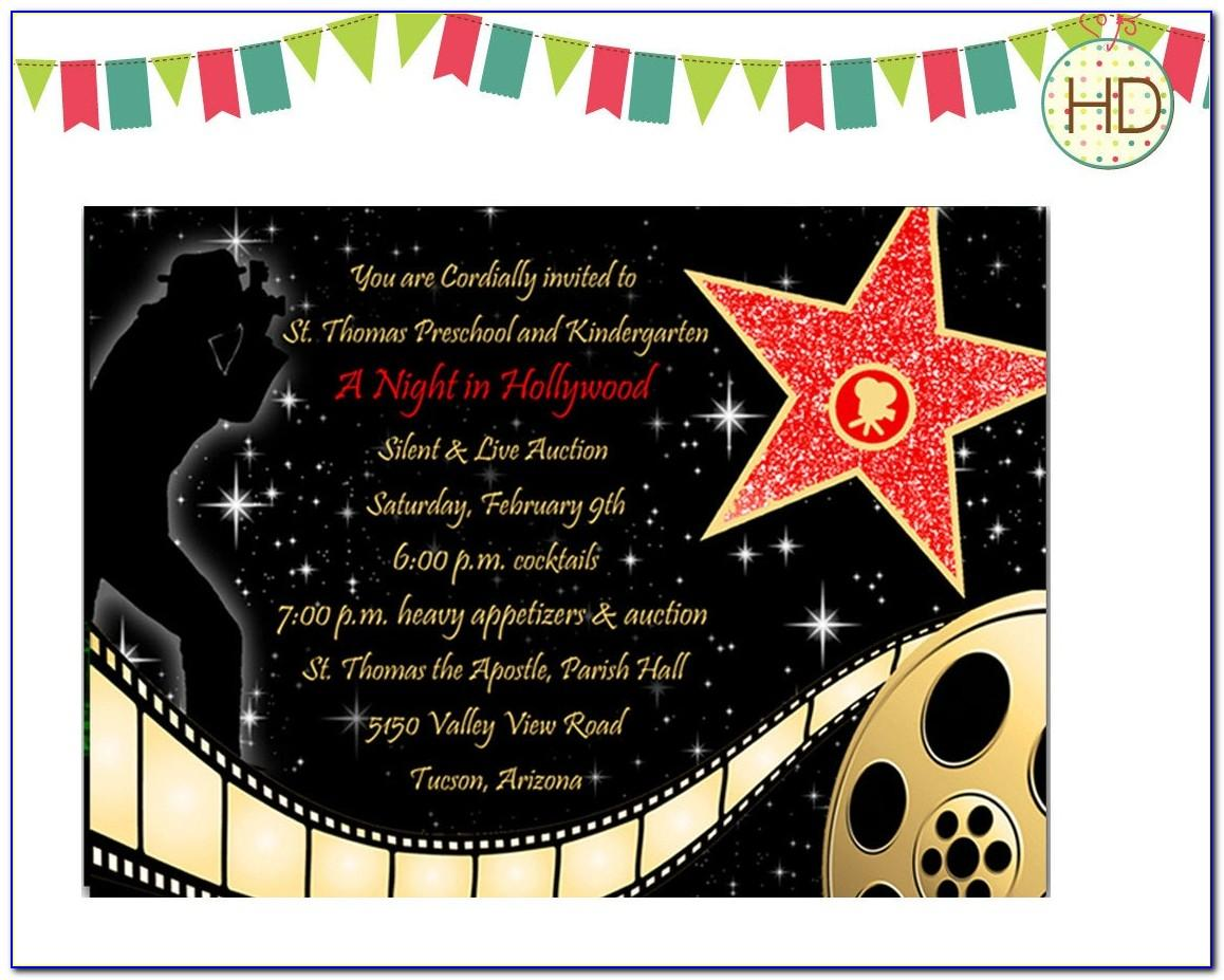 Hollywood Party Invitation Template