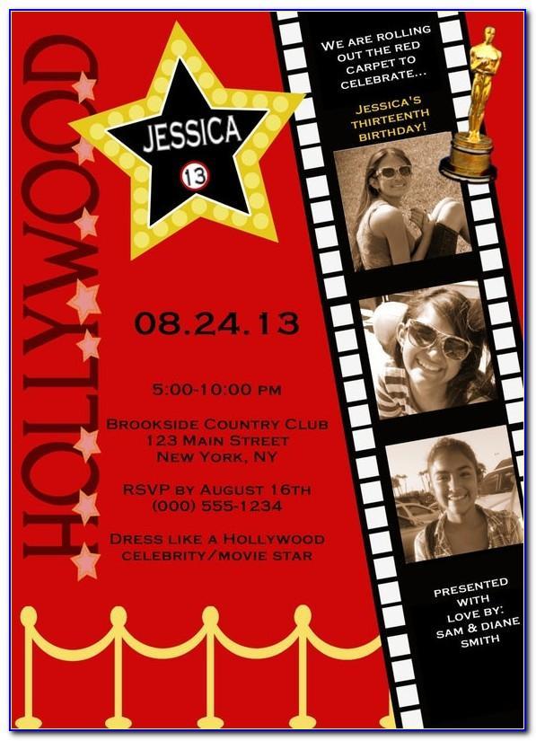 Hollywood Ticket Invitation Template