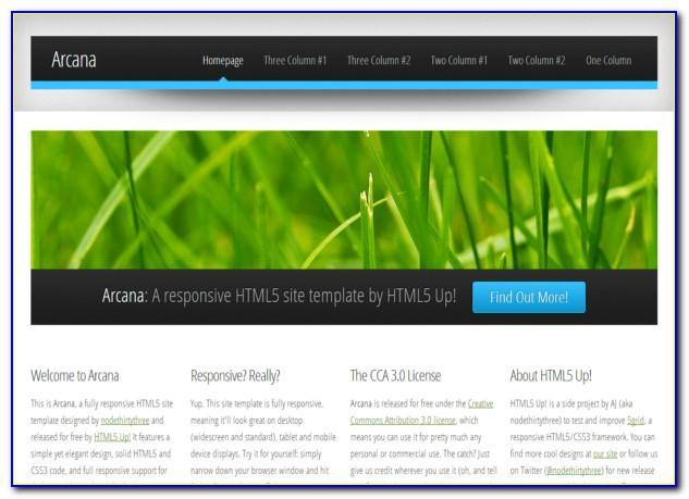 Html5 Css3 Templates Dreamweaver