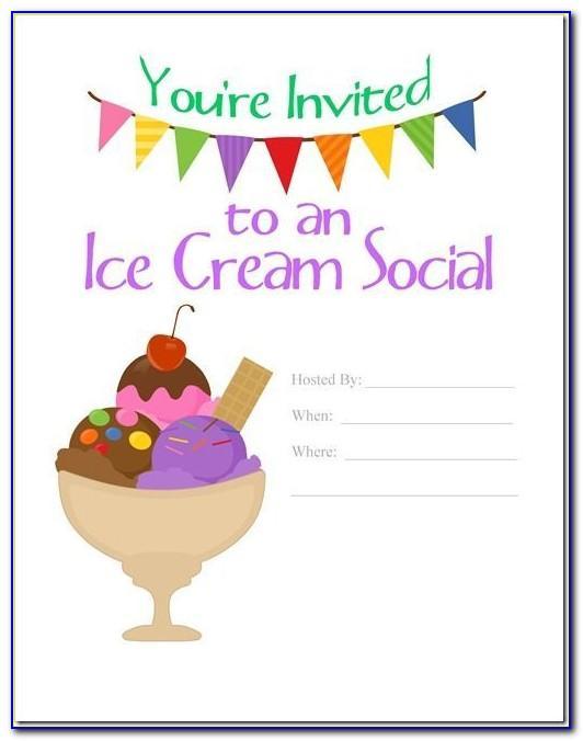Ice Cream Social Invitation Templates
