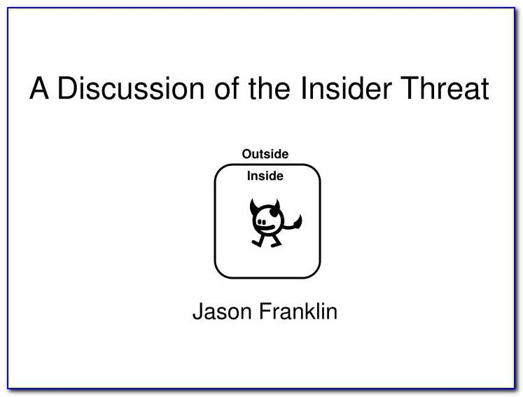 Insider Threat Program Plan Template