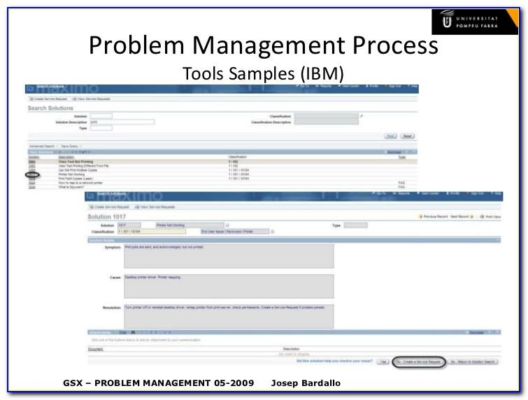 Itil Problem Management Template