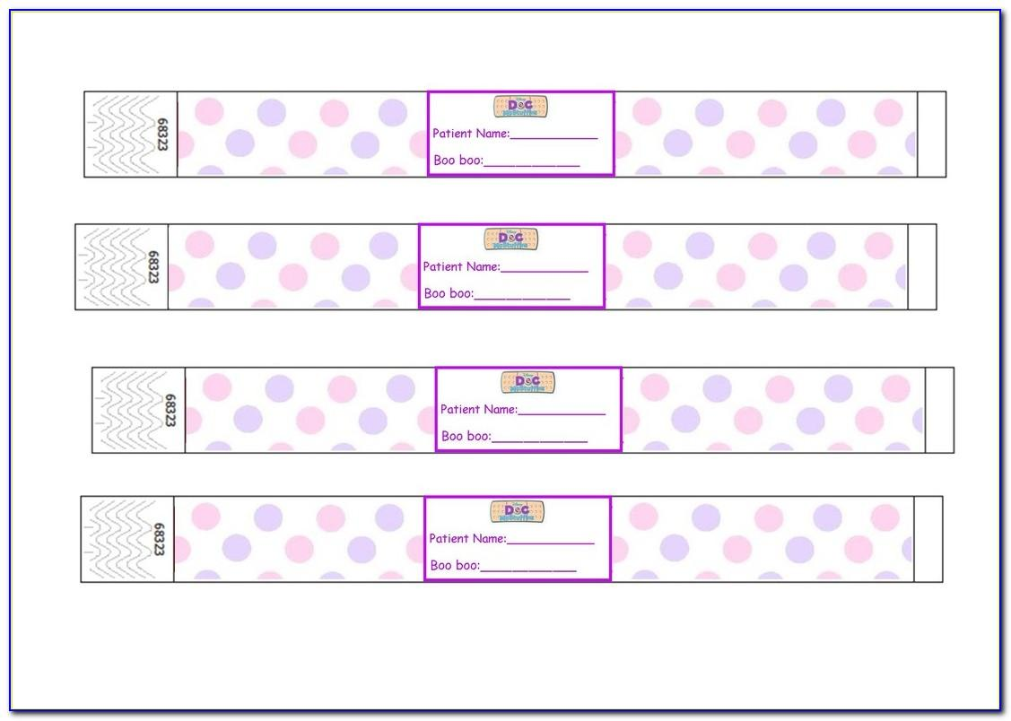 Jetbands Printable Wristbands Template