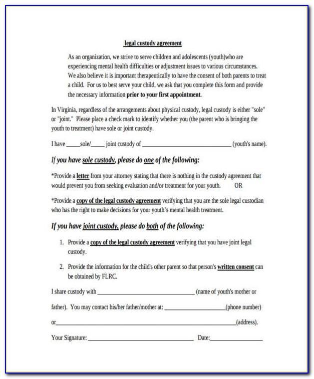 Joint Child Custody Agreement Template