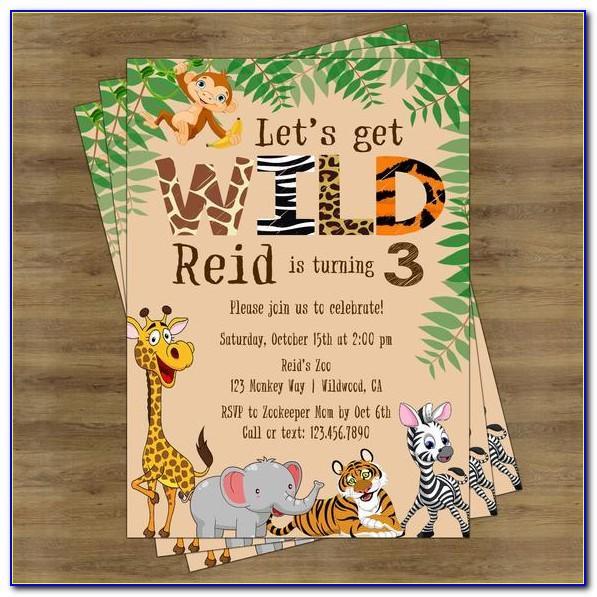 Jungle Safari Invitation Template Free