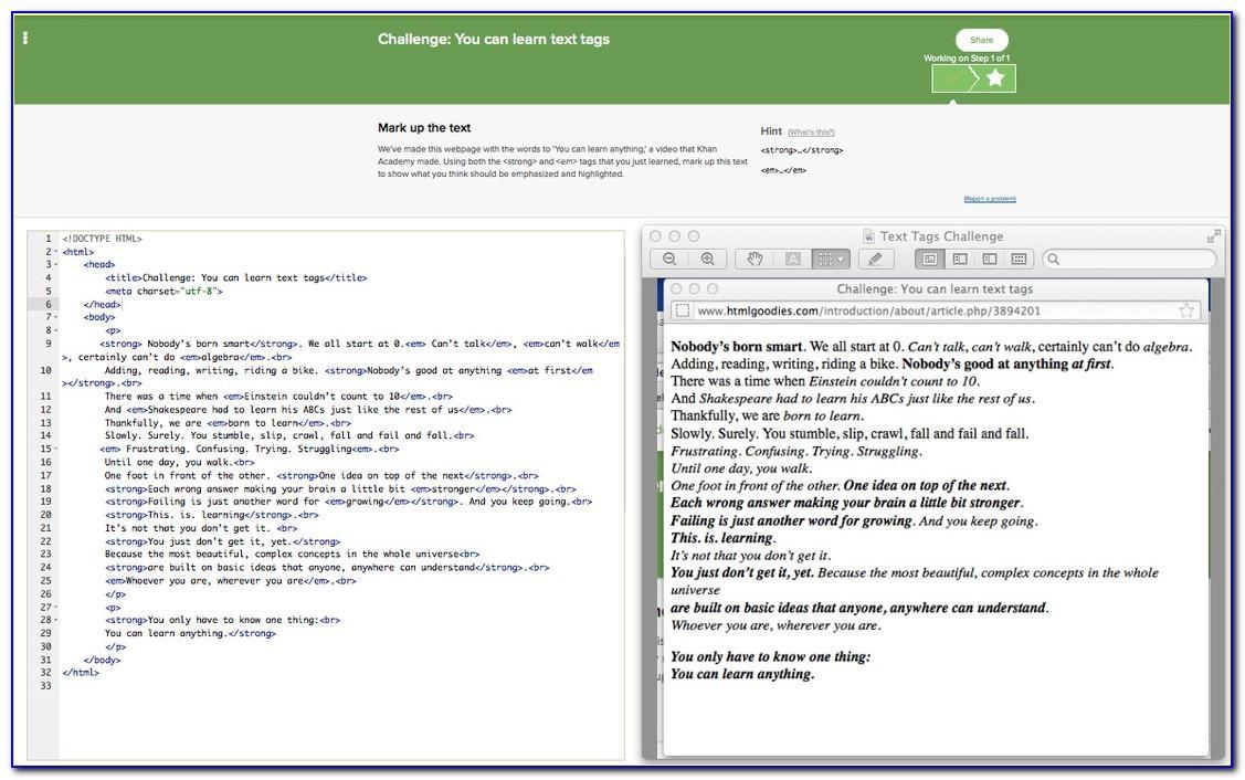 Khan Academy Website Template