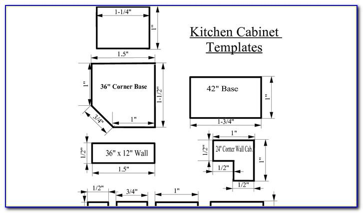 Kitchen Cabinet Templates For Knobs