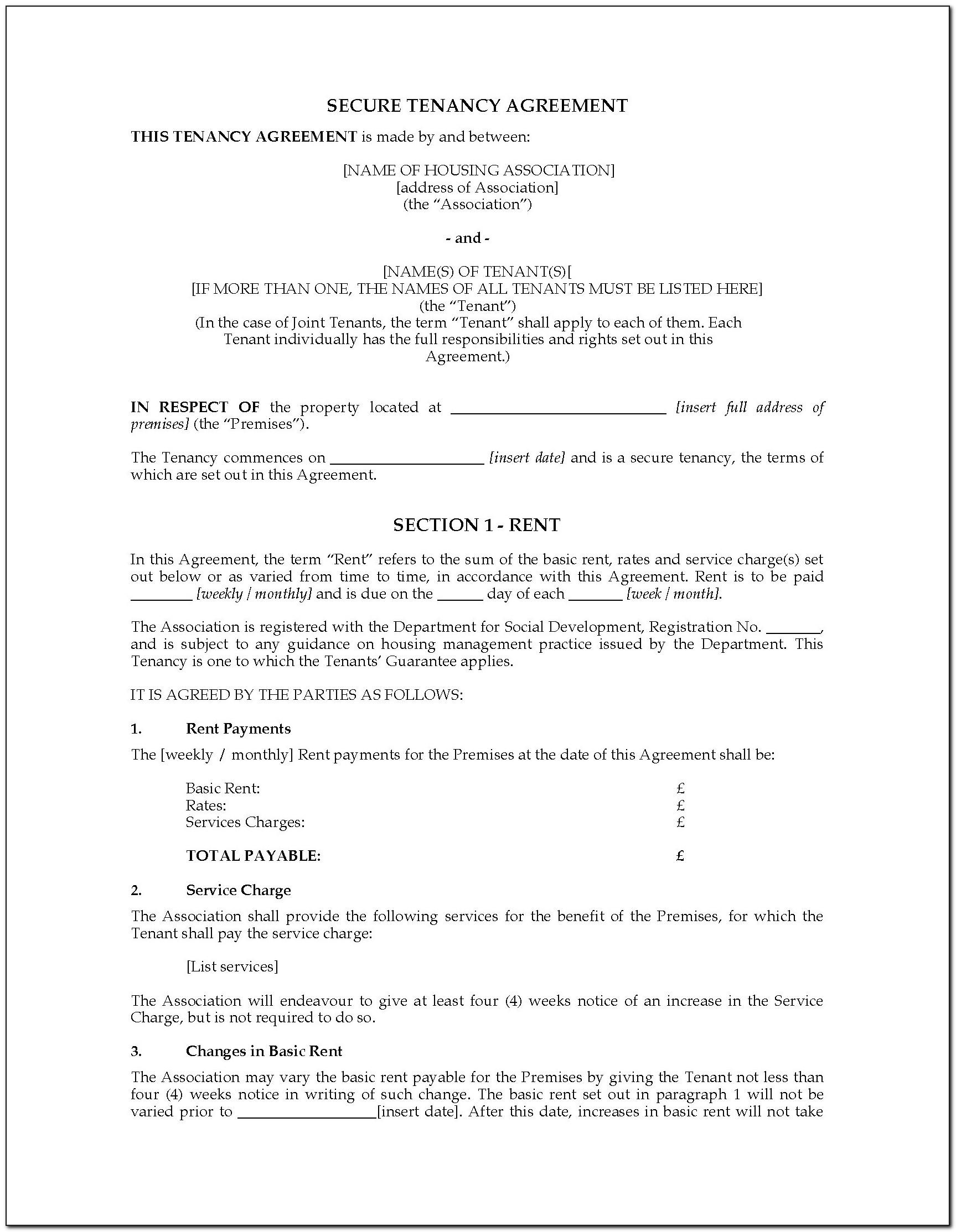 Landlord Contract Template Uk