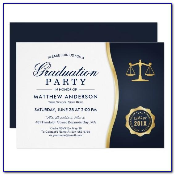 Law School Graduation Party Invitations Templates